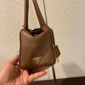 Authentic Prada Satchel Nappa Leather.